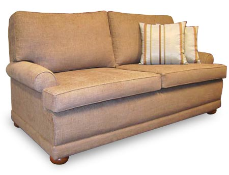 Bentley round arm 2 seat couch