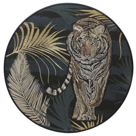 Canvas Tiger Jungle Round