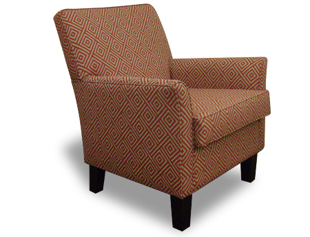 Armchair - Dover brown with wooden legs