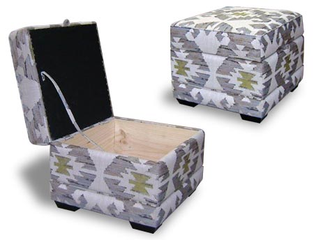 footstool with lift up top and storage.