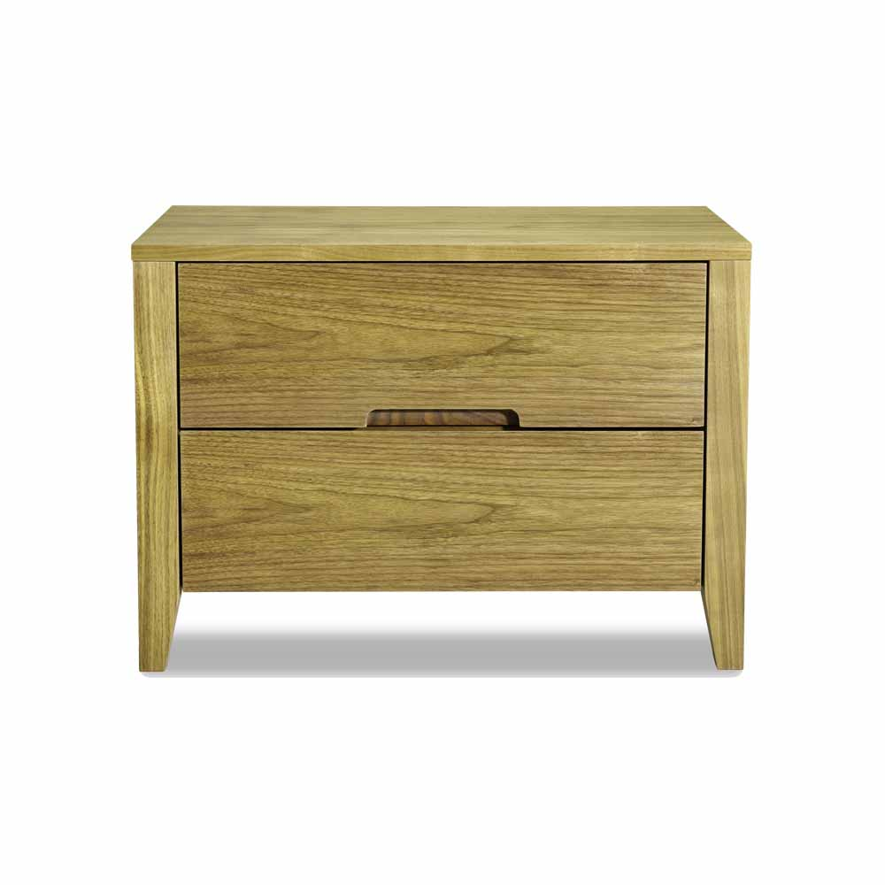 Contemporary Side Bed Table With Natural Oak Veneer N9602 Wilson Nicholson