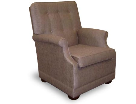 Peyton armchair upholstered lounge chair with round wooden feet