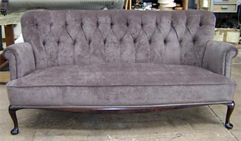 classic style couch recovered by Auckland's best upholstery company