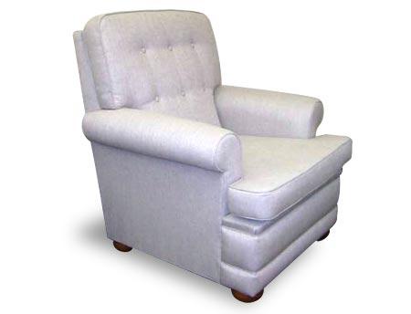 Richmond Round Arm upholstered armchair