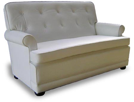 Richmond Round Arm 2 seat leather couch