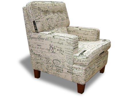 Richmond Square Arm Show Wood Legs Chair