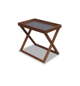 small wooden coffee table - walnut dark stain