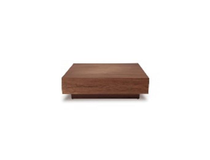 walnut wooden coffee table