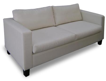 Colorado narrow square arm 2 seat couch