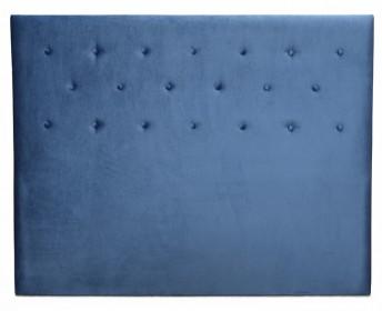blue padded headboard