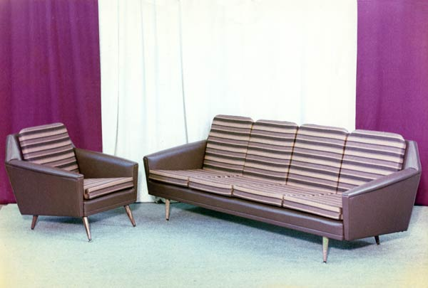 Commercial Furniture striped couch and chair