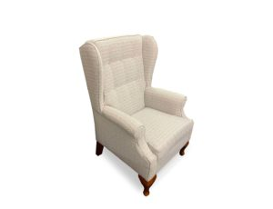 Wing chair in cabriol legs