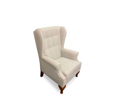 Wing chair in cabriol legs
